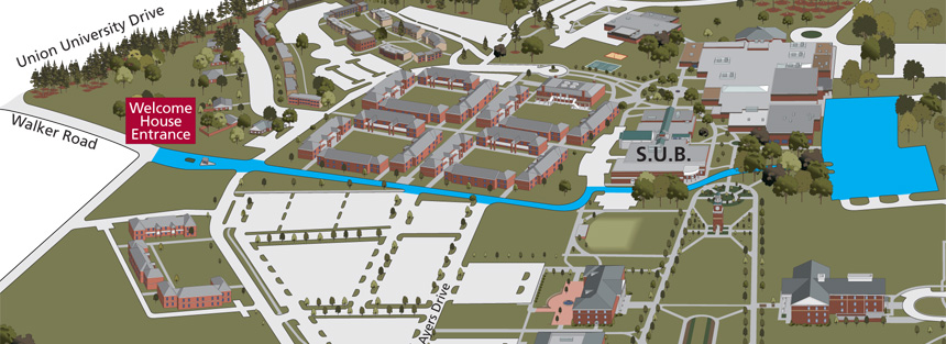 directions parking campus reservations union university a
